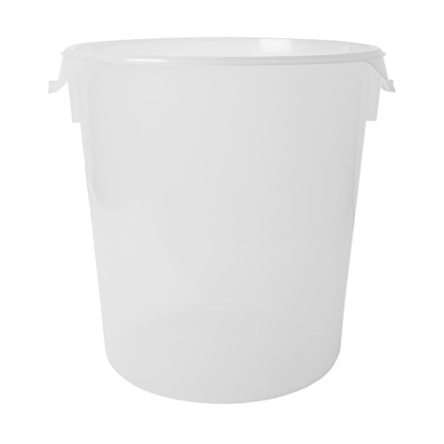 Rubbermaid Commercial Round Storage Containers, 22qt, 13 1/8