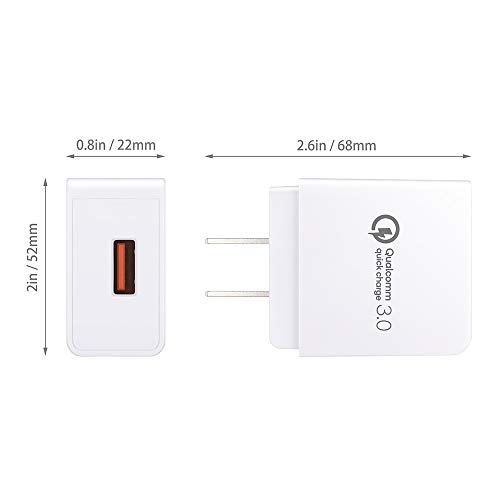 Quick Charge 3 0 USB Type-C 18W USB Wall Charger Compatible Samsung Galaxy  Note 8 S8 Plus, Moto Z Z2, HTC 10 U11, ZTE ZMAX PRO, LG V20/G5/G6 and More