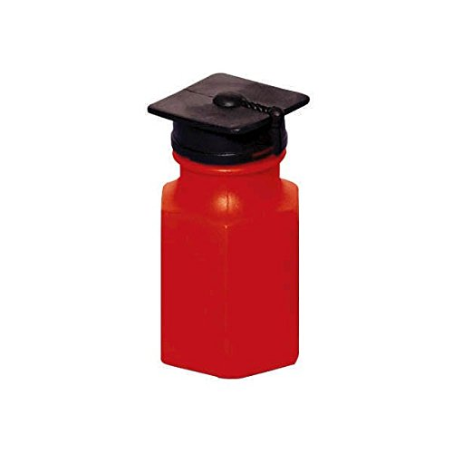 Amscan Flying Colors Graduation Grad Cap Topper Bubble Maker Party Favour, Red, Plastic , 0.5 oz., Pack of 24