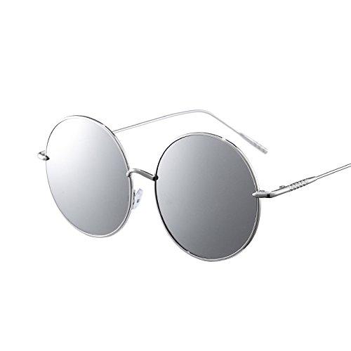 Punk LVZAIXI Sunglasses Redondas Gafas Retro de Steampunk Color Vintage Negro Goggles Cyber Gris Hippy Sol pwvZdwq