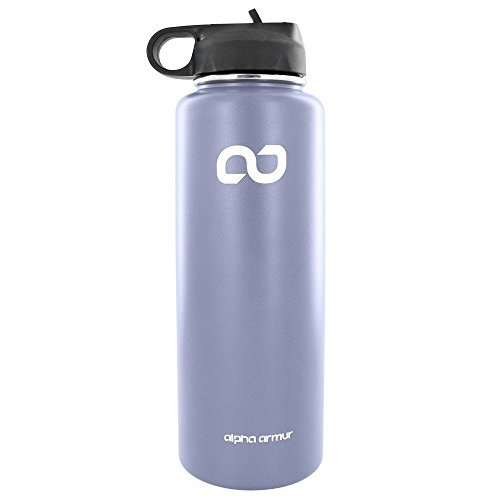 Alpha Armur 40 Oz (1.1L)Water Bottle Stainless Steel drinking flask Double Wall Vacuum Insulated stainless steel food flask Wide Mouth Bottle with Sports Lid flask stainless steel for beach,  ()