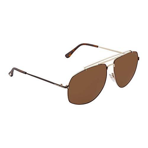 Sunglasses Tom Ford GEORGES TF 496 FT 28J shiny rose gold / roviex ()