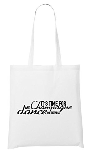 It`s Time For Chmapgne And Dance Bag White