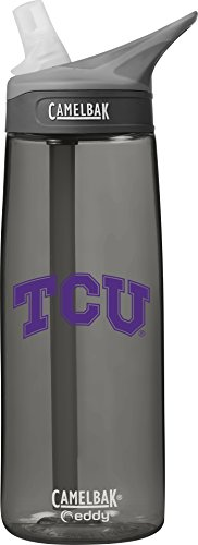 Tcu Horned Frogs Bottle - NCAA TCU Horned Frogs Unisex Eddy .75L Collegiate Water Bottlecamelbak Eddy .75L Collegiate Water Bottle, Charcoal.75 Liter