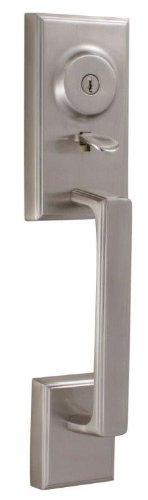 Weslock 01425-N--0020 Lexington 1400 Series Entry Handle, Satin Nickel (Weslock Handlesets)