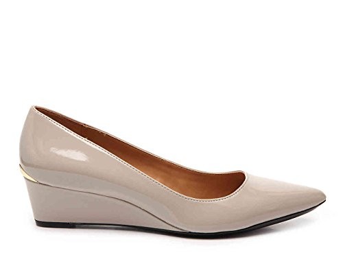 Calvin Klein Garya Wedge Patent Pump Light Taupe gp7jfEcc