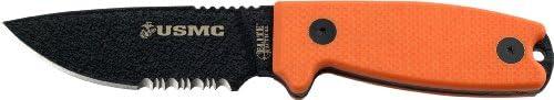 Elite Tactical US Marines M-1022OR Fixed Blade Knife, 8-Inch, Orange