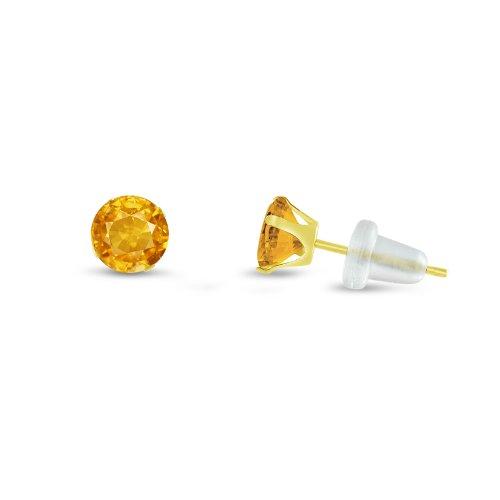 Kezef 2 mm rond Extra Small avec zircones Or jaune 10 k jaune or-Boucles d'oreille Clous