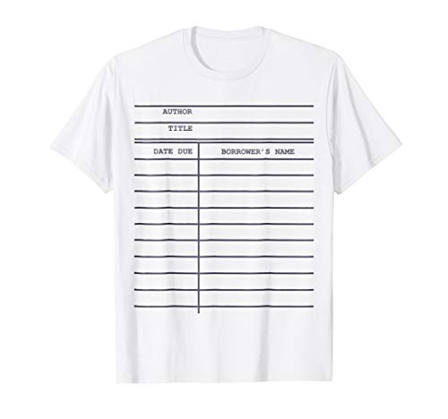 Library Card Check-out T-Shirt for Bookworms and Readers