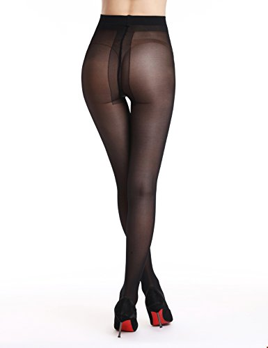 Noir Mince De 30 2 Danse Transparent Femmes Amoretu Deniers Collant Collants Leggings qp7wHv