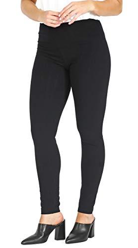 INTRO. Tummy Control High Waist Legging Pull-On Cotton \ Spandx Legging Black Size Medium