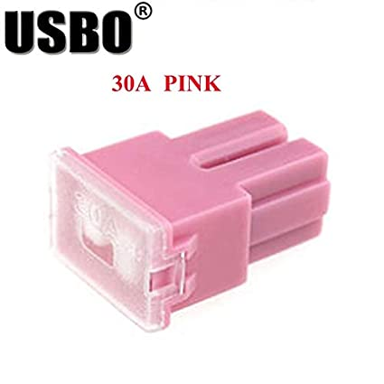 amazon com: car truck square interpolated insurance chip 30a 40a 50a 60a  80a 100a large fuse box dedicated multicolor - (color: pink, size: large):