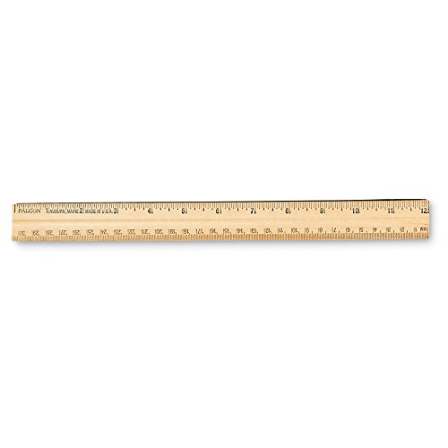 ETA hand2mind Student Wood School Ruler with a Metal Edge, Set of 12