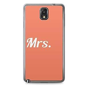 Mrs Samsung Note 3 Transparent Edge Case