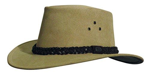 Kakadu Traders Australia Queenslander Hat, Tan, Medium - Kakadu Leather Hat