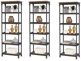 Martin Furniture IMAI2468 Bookcase, Brown 3- Pack