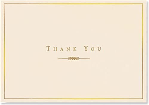 Amazon Com Gold And Cream Thank You Notes Stationery Note Cards