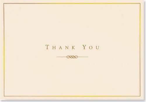 Gold and Cream Thank You Notes (Stationery, Note Cards) (Note Card Series) (Note Stationery Cream)