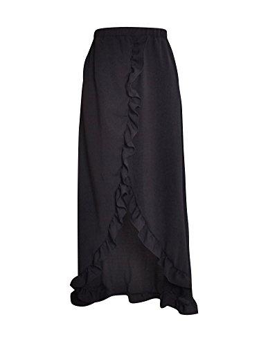 Bohme Haute Jupe Femme Dcontract Taille Vintage lgant Longue Maxi Jupe Noir t InHnqE
