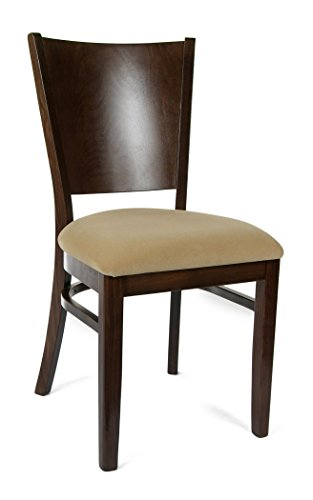 Beechwood Mountain BSD-86S-W Solid Beech Wood Side Chairs in Walnut for Kitchen and dining, set of 2 For Sale