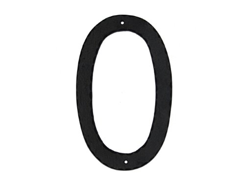 Montague Metal Products Standard Font Individual House Number, 0, 6-Inch