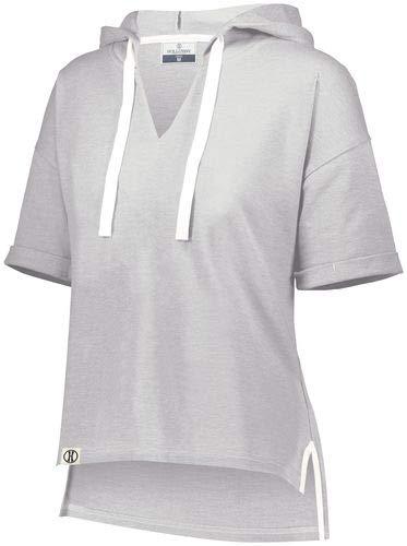 Holloway Sportswear Ladies Sophomore Short Sleeve Hoodie S Athletic Heather