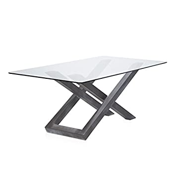 HABITMOBEL Esstisch Stahl Grau, Sammlung Sia 200 Cm