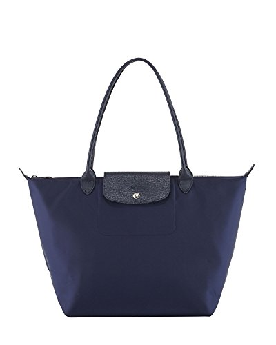 Longchamp 'Large Le Pliage Neo' Nylon Tote Shoulder Bag, Navy