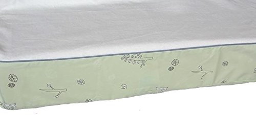 Babyletto Changing Pad Cover Green Tranquil Woods With White French Terry Cloth Top Baby Nursery Bedding Decor