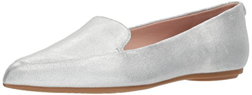 Taryn Loafer Flat Metallic Women's Faye Rose Silver Shimmer 11O7vS