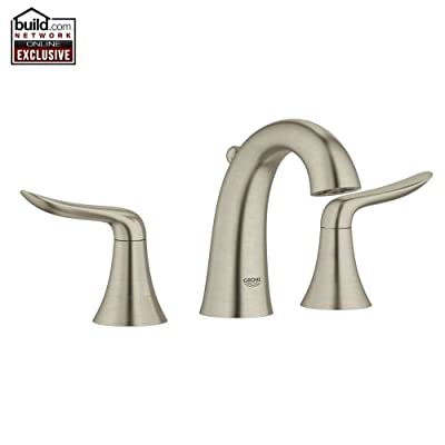 Grohe 20 425 Agira Widespread Bathroom Faucet with SilkMove and QuickFix Techn,