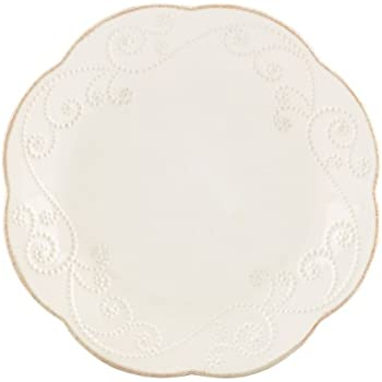 Lenox French Perle Dessert Plates, White, Set of 4