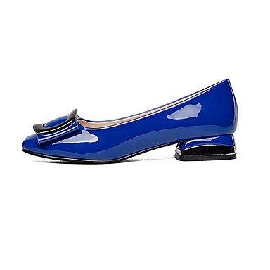 ggx Chaussures amp; Talon black à cm formelles Chaussures Femme Printemps formelles Similicuir Talons Blanc Amande12 Noir Gros Automne LvYuan Chaussures Bleu fqdxCHEwC