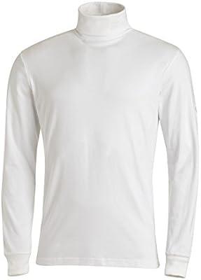 Medico - Camiseta de esquí de manga larga de 100 % algodón, cuello alto, para hombre, blanco, 48: Amazon.es: Deportes y aire libre