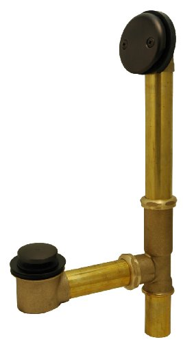 Bathtub Drain, Waste and Overflow, Tip Toe Type, Oil Rubbed Bronze Finish - Plumb USA by PlumbUSA
