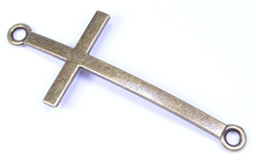Antique Gold Metal Cross - 5 pack -