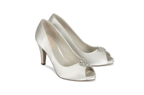 Pink Paradox London Lustre Wedding Shoes Ivory 1GBsO