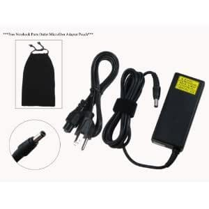 Toshiba 19V 2.37A 45W Replacement AC Adapter for Toshiba Notebook Models: Toshiba T215D-S1150RD, PST2LU-00C006, Toshiba T215D-S1150WH, PST2LU-00D006, Toshiba T215D-S1160, PST2LU-00600E, Toshiba T215D-S1160RD, PST2LU-00E00E, 100% Compatible with Toshiba P/N: PA3822U-1ACA.***Free Notebook Parts Outlet Microfiber Adapter Pouch***