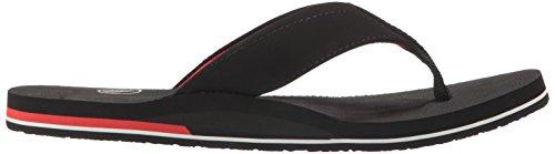 Volcom Mens Victor Flip Flop Sandal Black Top DBer4nA