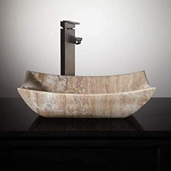 Bathroom Travertine Stone Vessel Vanity Sink Bowl Lavatory