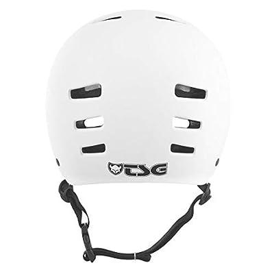 TSG Evolution Skate & Bike Helmet in Satin White w/Snug Fit & Triple Cert. for Skateboarding, Cycling, MTB, Park Skating, Roller Derby, and Scooter : Sports & Outdoors
