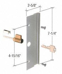 Locking Pull, 4-15/16'' Screw Holes, Keyed, Aluminum