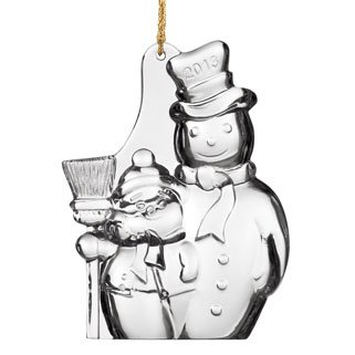 Marquis by Waterford 2013 Christmas Tree Snowman Ornament, 4-Inch Waterford Crystal Christmas Tree Topper