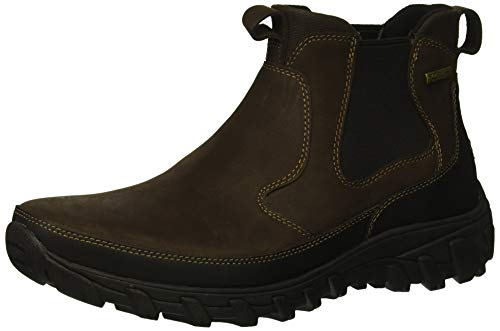 Rockport Men's Cold Springs Plus Chelsea Boot, dark brown, 11.5 W US