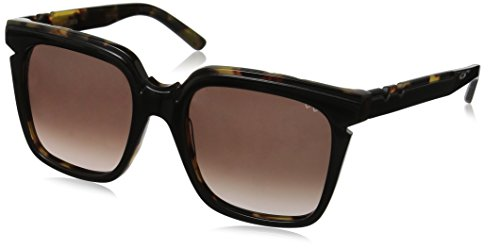 Pared Eyewear Charlie and the Angels Blackgradient Square Sunglasses, Solid Grey Lenses, 21 - Sunglasses Pared