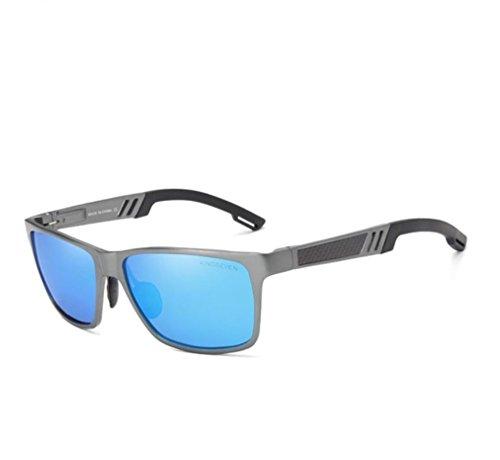 sol moda clásica de polarizadas de azul calidad de moda color cristales Gafas de polaroid moda polarizadas alta el hombre para buena polaroid polarizadas baratas de de calidad gafas Azul Gafas de sol XOwnq5Ix
