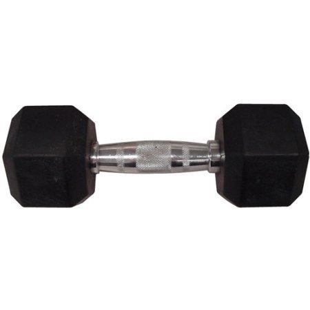 Golds Gym Rubber Hex Dumbbell, (30 lb)