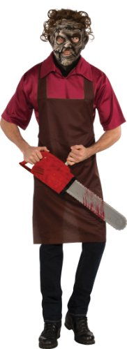 Halloween Saw Costume (Rubie's Costume The Texas Chainsaw Massacre Halloween Sensations Leatherface, Multicolor, Standard Costume)