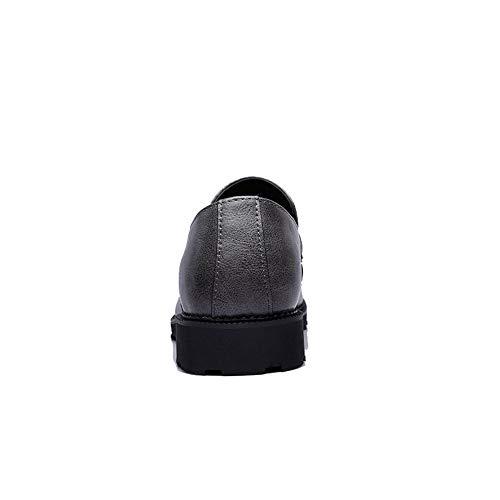 Uomo Scialle shoes Hongjun 2018 Frange Dimensione Da Oxford 43 color Alla Scarpe Grigio Casual Moda Eu Con Nero BEqx8g