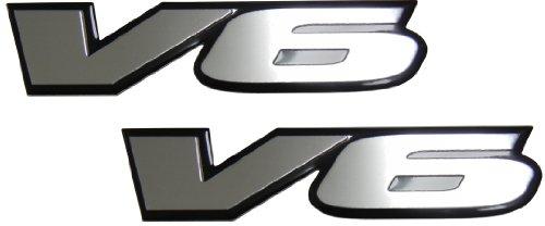 Pontiac Prix Engine Computer Grand (2 x (pair/set) V6 Engine Badge Emblem for Pontiac G6 Grand Prix Firebird Grand AM Cadillac CTS Catera SRX STS)